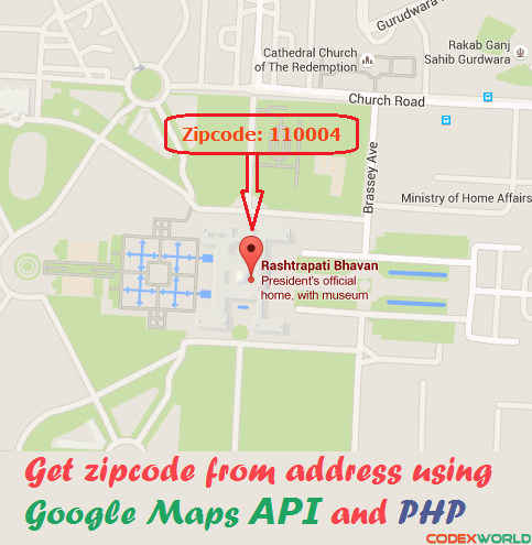 Get Zipcode From Address Using Google Maps Api And Php