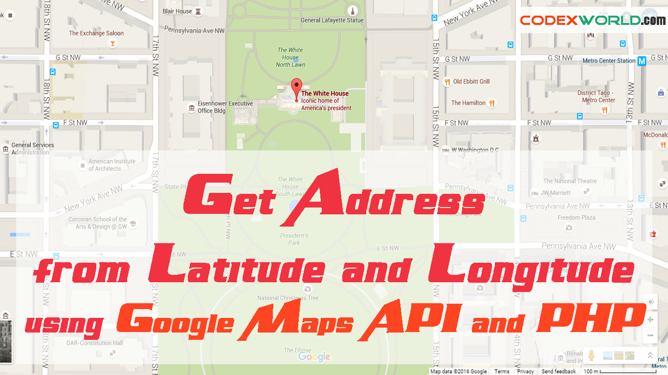 Get Address From Latitude And Longitude Using Google Maps API And - Location on map with latitude and longitude