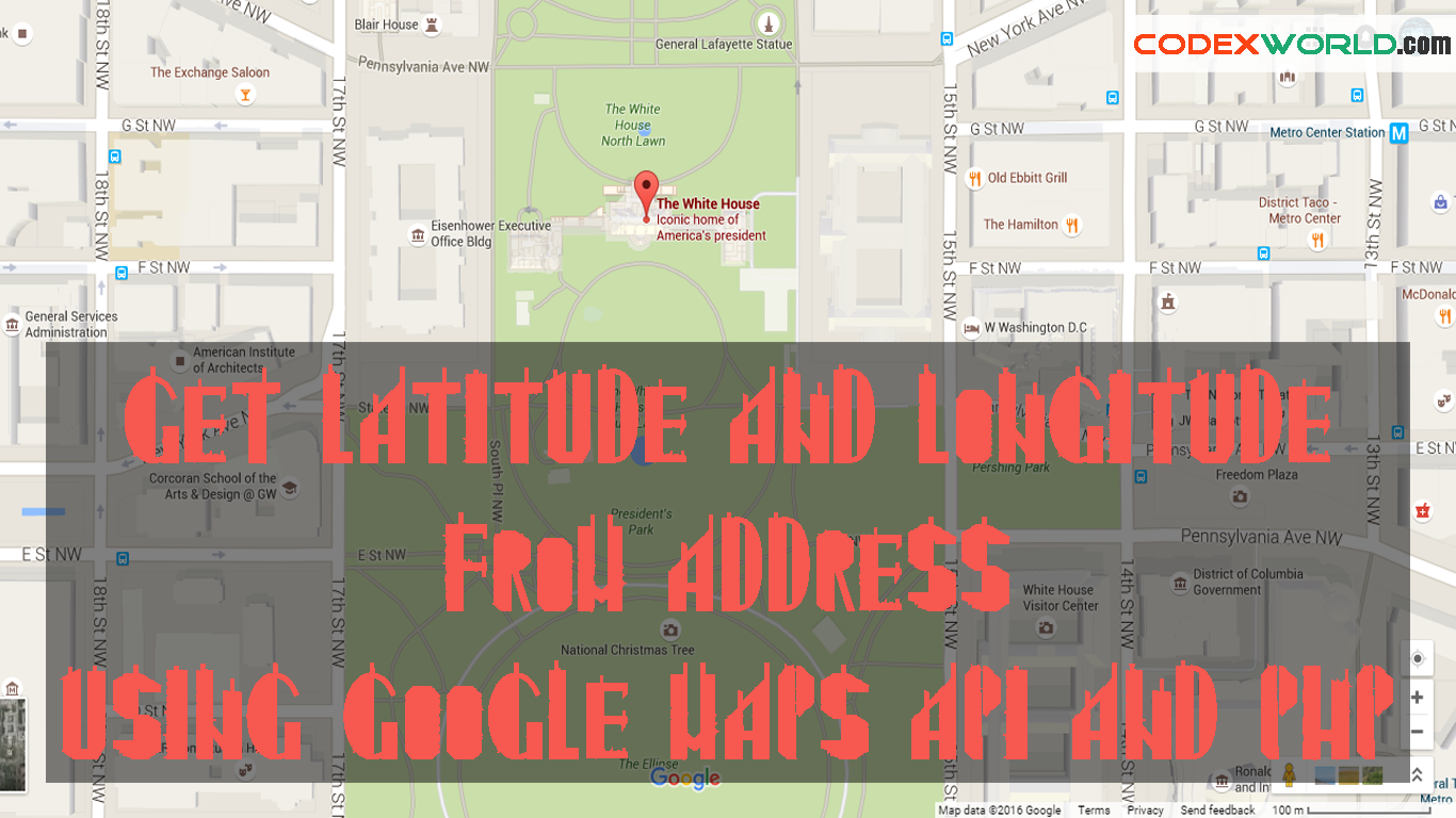 Get Latitude And Longitude From Address Using Google Maps API And - Location on map with latitude and longitude