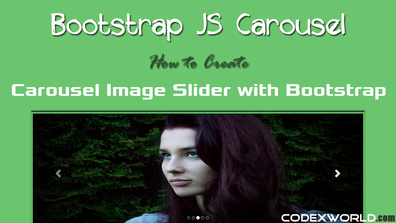 How to create carousel slider with bootstrap codexworld baditri Gallery